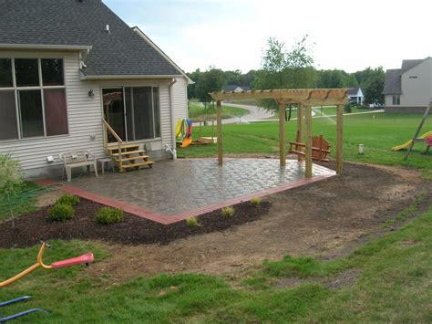 awesome backyard ideas zspmed of backyard cement patio ideas
