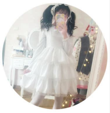 White Sweet S M L Dress 30610 S M L White Sweet Princess Dress With Strawberry