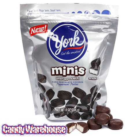 peppermint patty york peppermint pattie minis candy 8 ounce bag
