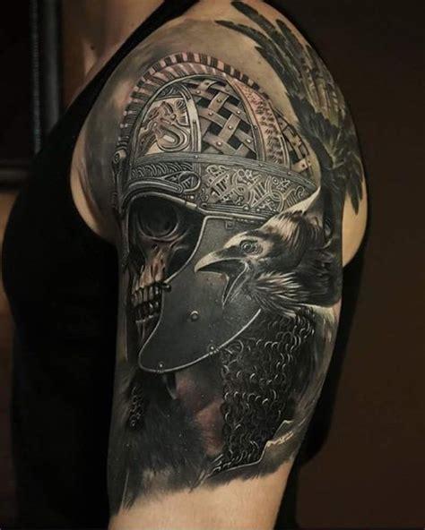 skull with helmet tattoo best tattoo ideas gallery