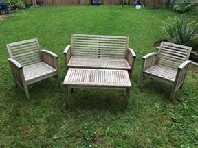 Refinishing Teak Furniture by Refinishing Teak Outdoor Furniture Thriftyfun