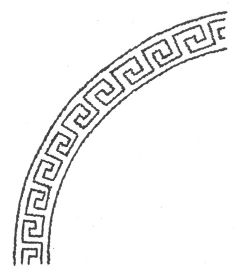 greek key coloring page how to draw greek shield