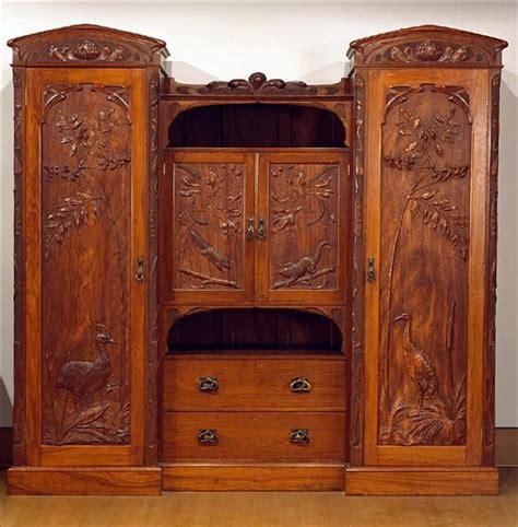 Carved Wardrobe by Federation Nouveau Style Wardrobe Of Blackbean