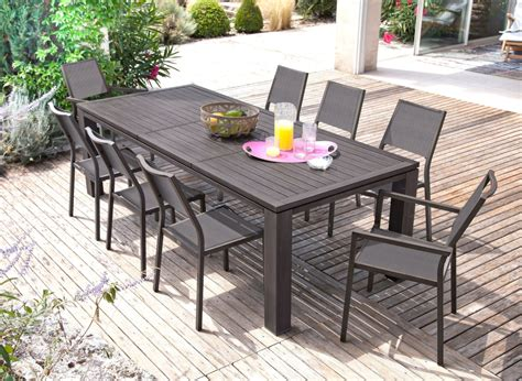 table jardin grande table de jardin rectangle fiero proloisirs
