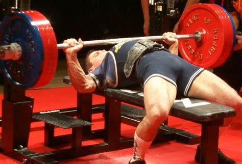 most weight bench pressed bench press
