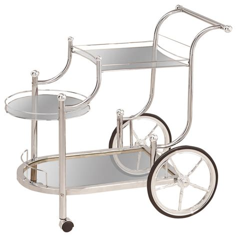 houzz bar cart coaster furniture coaster serving cart chrome finish