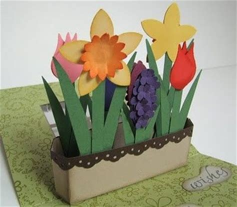 how to make pop up flower card flower pop up box card tutorial at post