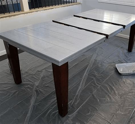 Diy Dining Room Table Refinish Diy Painted Dining Room Table Refinishing Project Behr