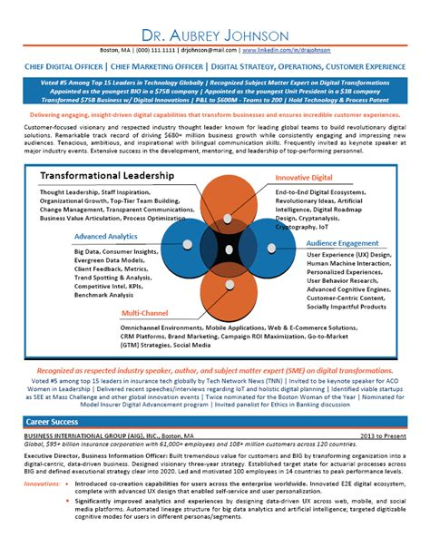 Executive 2 Resume Template by Executive Resume Sle Chief Marketing Officer