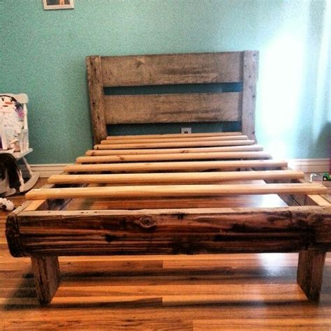Barn Wood Bed Frames Bed Frame Made From Barn Wood Barn Wood Tin Pinterest