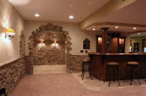 Stone wine cellars traditional basement chicago by north star