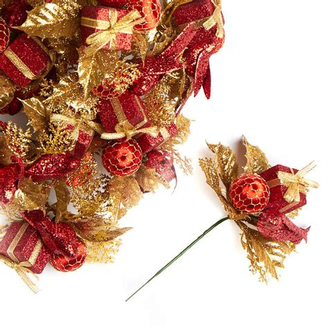 christmas floral picks and stems gift and ornament floral picks picks and stems floral supplies craft supplies