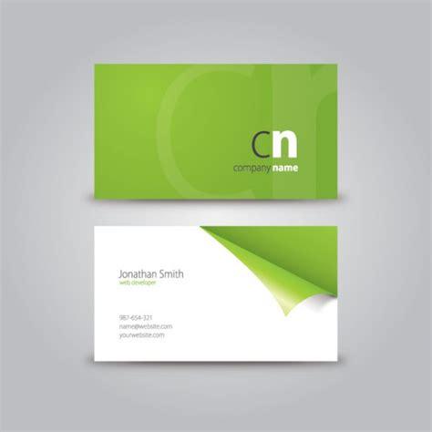 card corner curled corner business card vector free