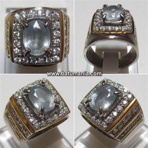 Cincin Blue Gemstone cincin light blue safire ceylon srilanka jewelry