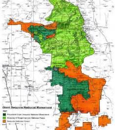 sequoia california map sequoia national forest vs sequoia national park