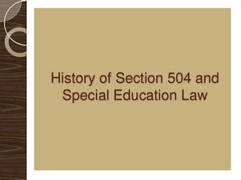 section 504 of public law 93 112 section 504 presentation final