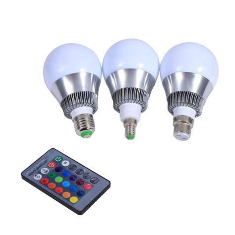 Lu Led 10w Rgb Remote 3w 10w e27 e14 b22 rgb led light color changing l bulb