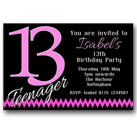 13th birthday invitations templates 10 personalised boys 13th birthday