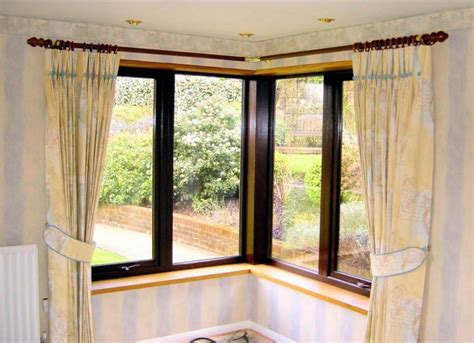 Curtains Corner Windows Ideas Curtain Astonishing Corner Window Curtain Rods Curtain Rods That Go Around Corners Drapery
