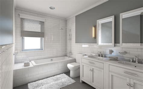 classic gray  white bathrooms