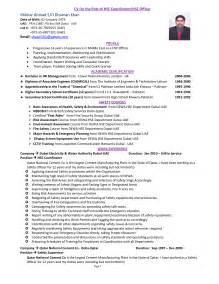 safety officer resume sle security officer cv sle