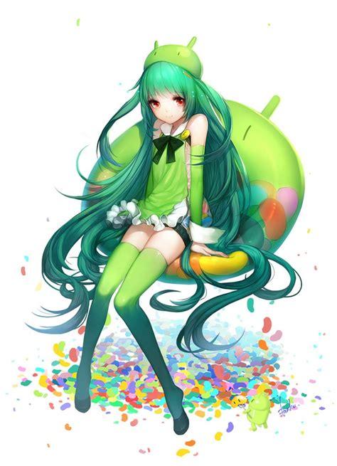 imagenes ocultas version android android tan mascot anime version pinterest