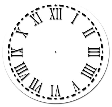 printable clock stencil roman numeral clock face template clipart best