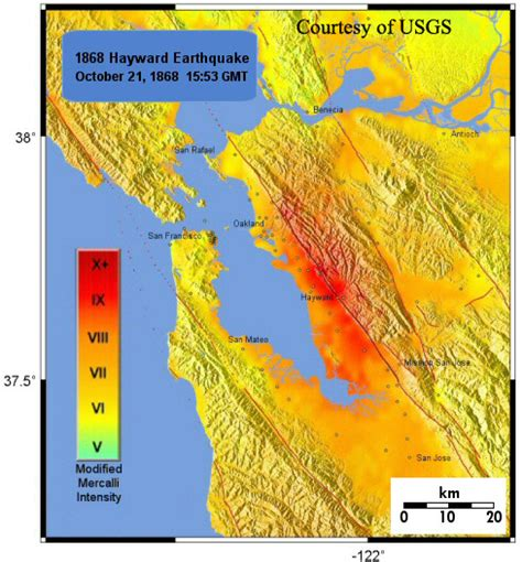 hayward fault map the hayward fault maps and tours