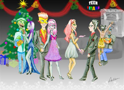 teen titans prom teen titans christmas ball by anhpho on deviantart