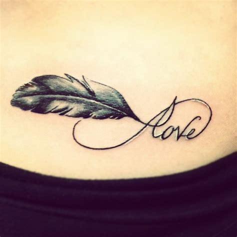 tattoo infinity with feather 45 cool infinity tattoo ideas 2017