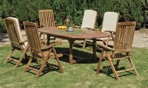 salon jardin teck table ovale seroni macom
