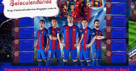 barcelona psd calendarios para photoshop calendario del 2017 del f c