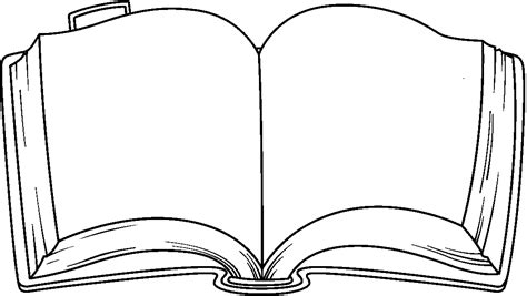 free clipart picture of an open old book with blank pages