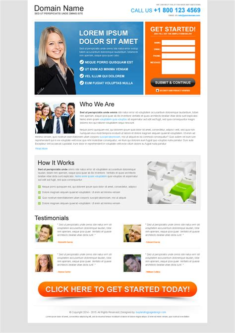 download free landing pages website designs