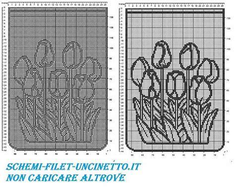 schemi tende filet gratis tenda tulipani filet uncinetto schema gratis tende a