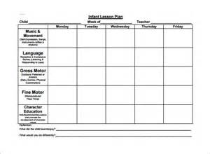 Infant Lesson Plan Template by Toddler Lesson Plan Template 10 Free Sle Exle