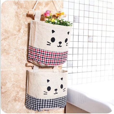 backpack rack for home new 5 styles wall sundry fabric cotton pocket hanging