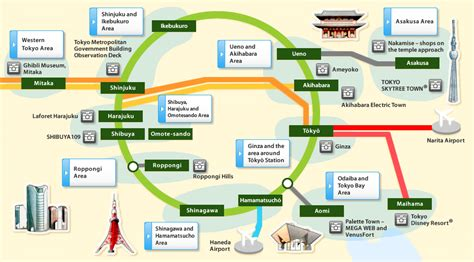 tokyo map tourist attractions tokyo featured destinations jr east