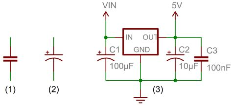 capacitor voltage symbol embedded system what is capacitor