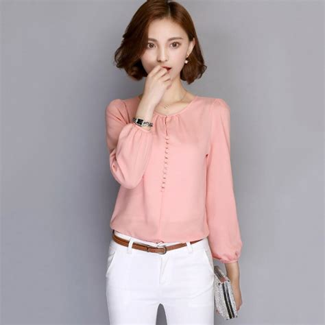 Blouse Daun sleeve button blouse ol office