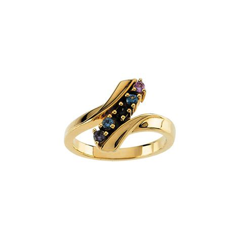 gold 1 to 7 stones s ring
