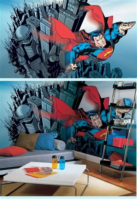 superman wall mural superman xl wall mural 9 x 15 sale