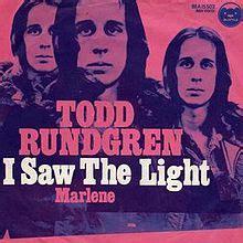 i saw the light todd rundgren song