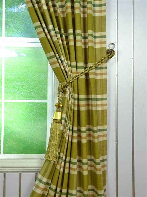 plaid tab top curtains extra wide hudson large plaid tab top curtains 100 inch