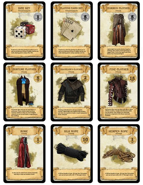 dungeons and dragons pdf item card templates dm paul weber 300 downloadable printable d d