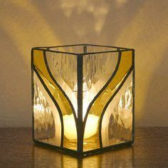 candlestick window pattern candle holder stained glass g1275 yellow glass