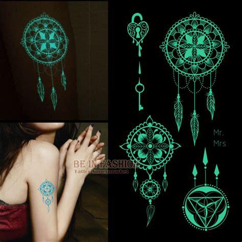 glow in the dark henna tattoo aliexpress com buy one piece shiny luminous temporary