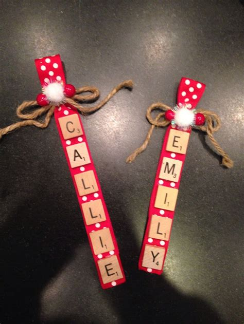 scrabble tile christmas ornaments christmas pinterest