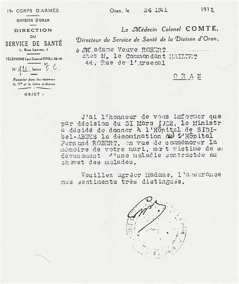 Lettre De Remerciement Directeur Fernand Lucien Robert T 233 Moignages