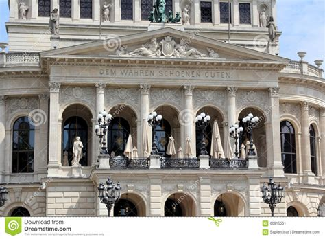 what house am i in opera house in frankfurt am main stock photo image 60815551
